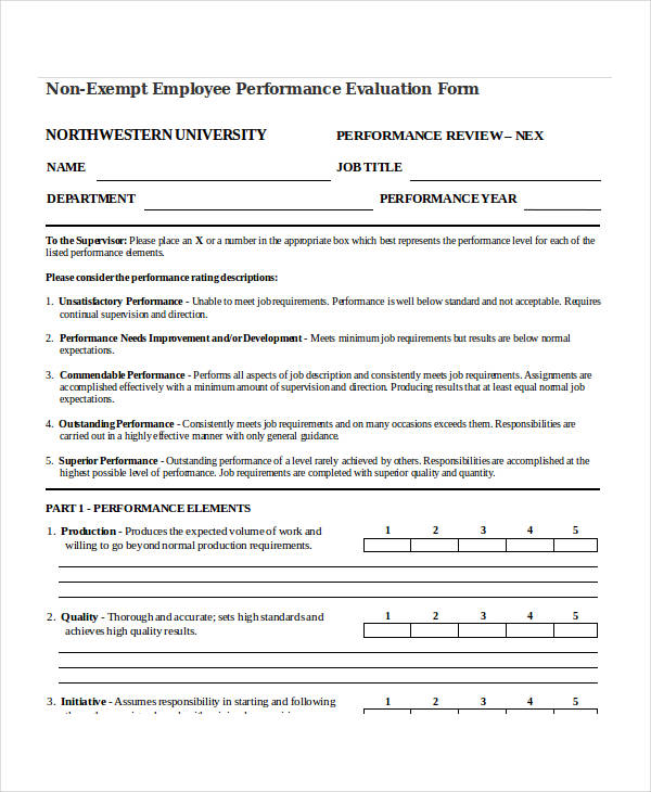 non exempt employee performance evaluation form1