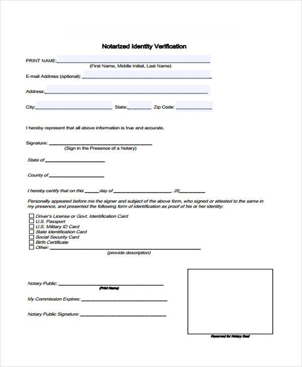 33 Free Verification Forms