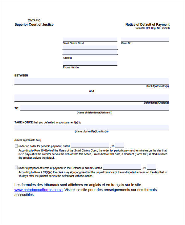 free notice forms