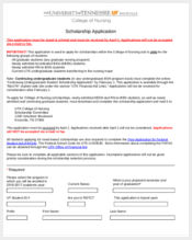 nursing scholarships application form