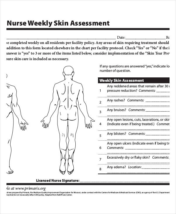 Clever image throughout printable skin assessment form