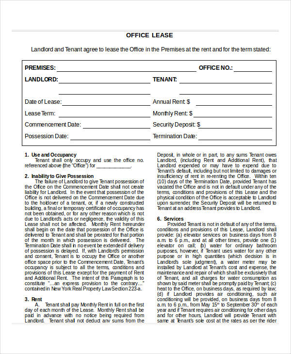 office lease agreement doc1