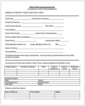 ontario rental lease agreement form