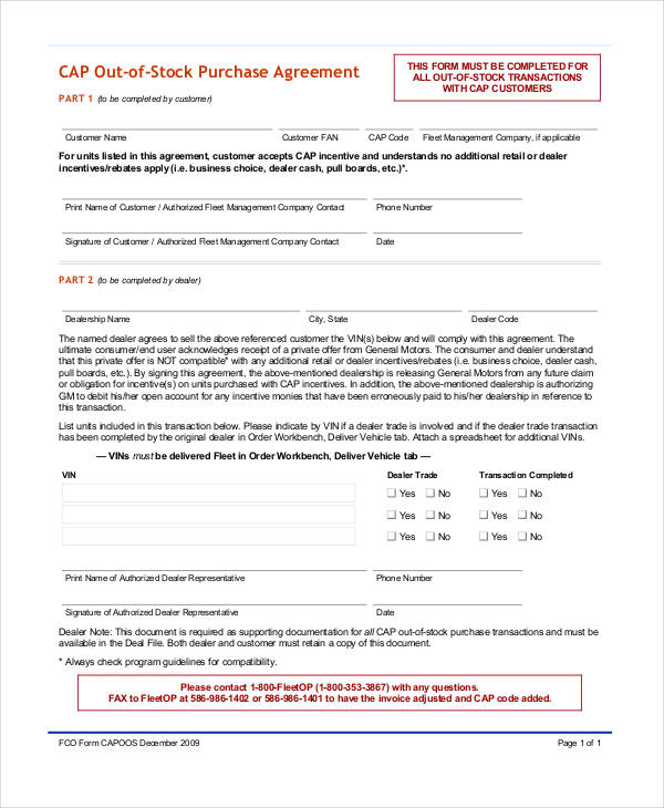 Stock Purchase Agreement Form Samples  Free Sample Example