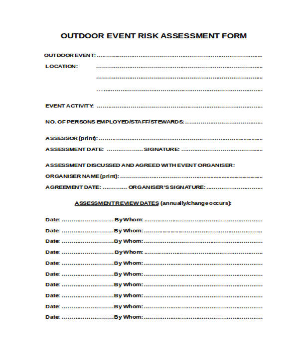 outdoor event risk assessment form3