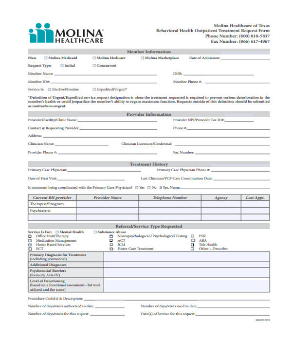 outpatient psychiatry request form