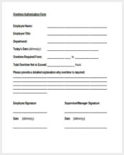 overtime authorization form