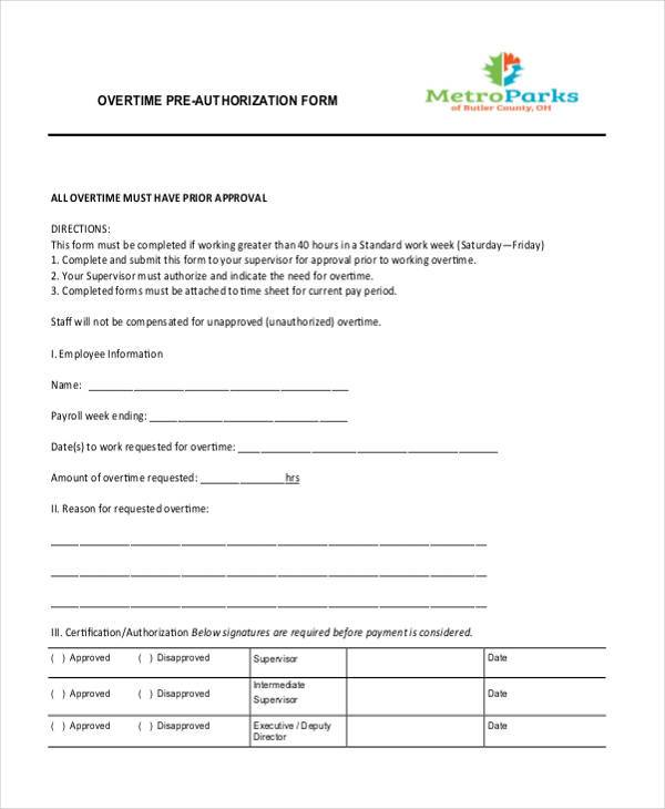 Authorization Form Templates – Employment Authorization Form Example