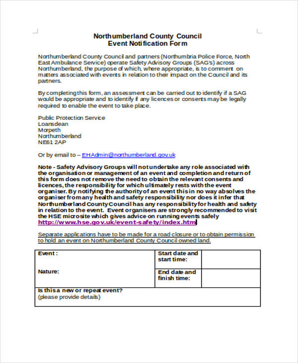 park event notification form2