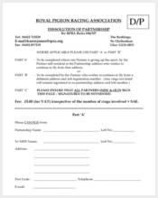 partnership dissolution agreement form
