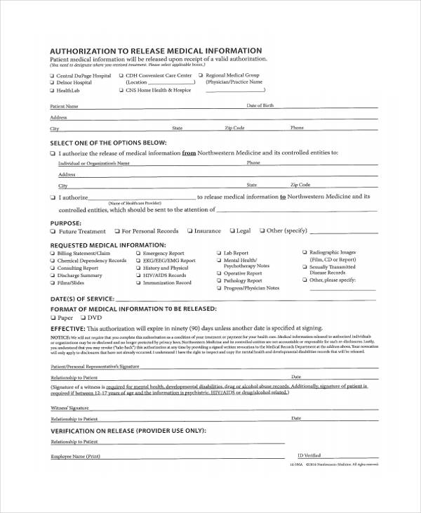 patient medical information release form1