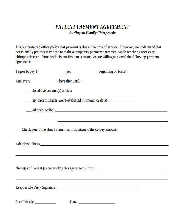 patient payment agreement form