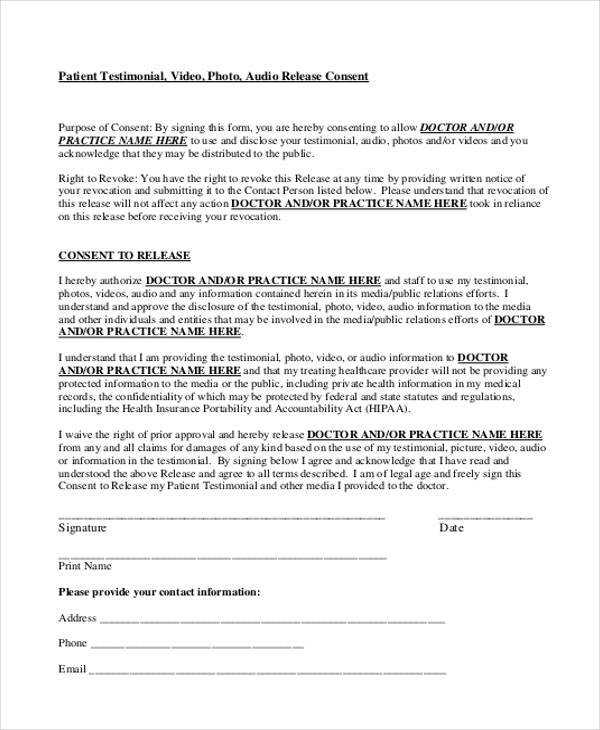 44 Consent Form Samples Free Sample Example Format Download – Photography Consent Form