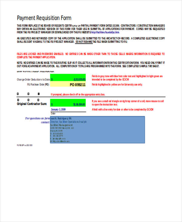 payment requisition form template