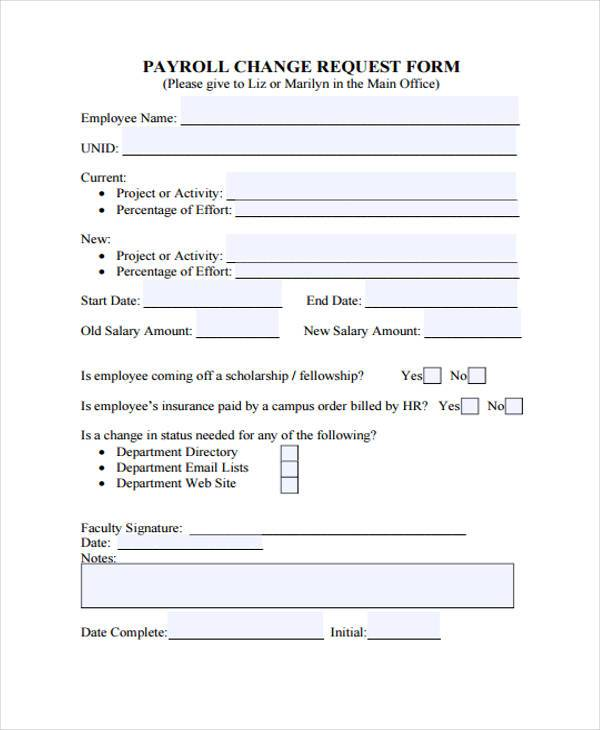 payroll change request form1