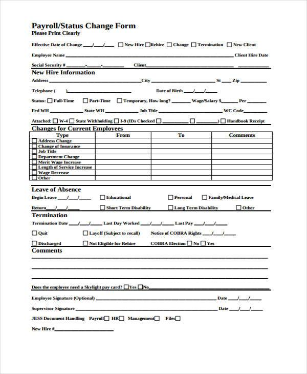 payroll status change form1
