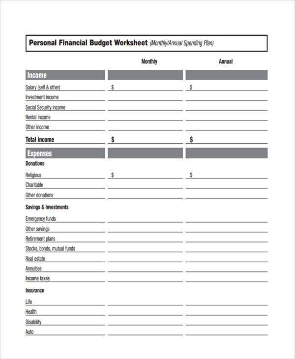 financial budget form aildoc productoseb co