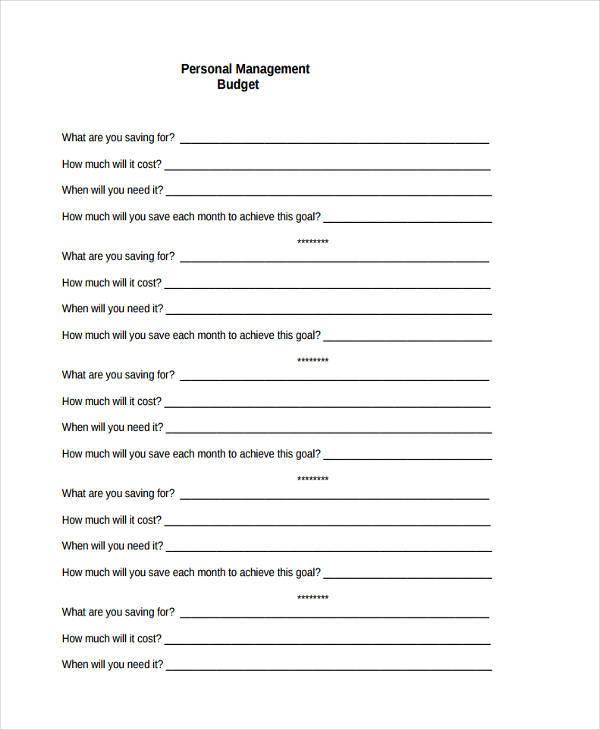 personal management budget form1