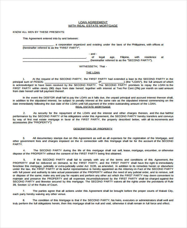 Loan Agreement Form Template – Private Loan Agreement Template