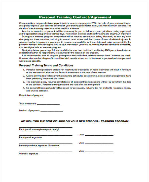 29 Free Contract Agreement Forms