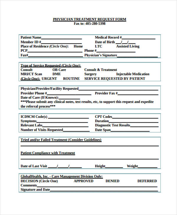 physician change request form