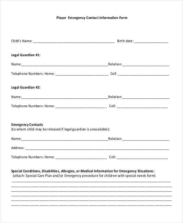 player emergency contact information form1