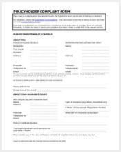 policyholder financial complaint form1