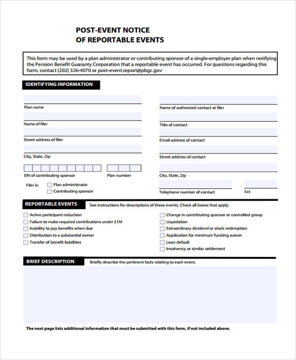 post event notice form2