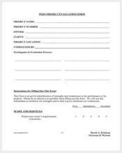 post project evaluation form11
