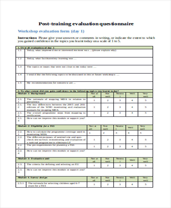 post training evaluation questionnaire form2
