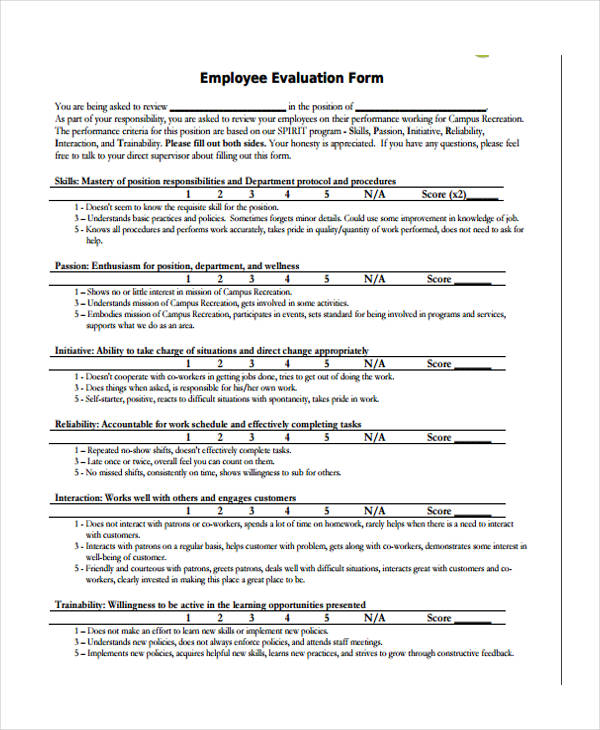 PracticeEmployeeEvaluationFormJpg