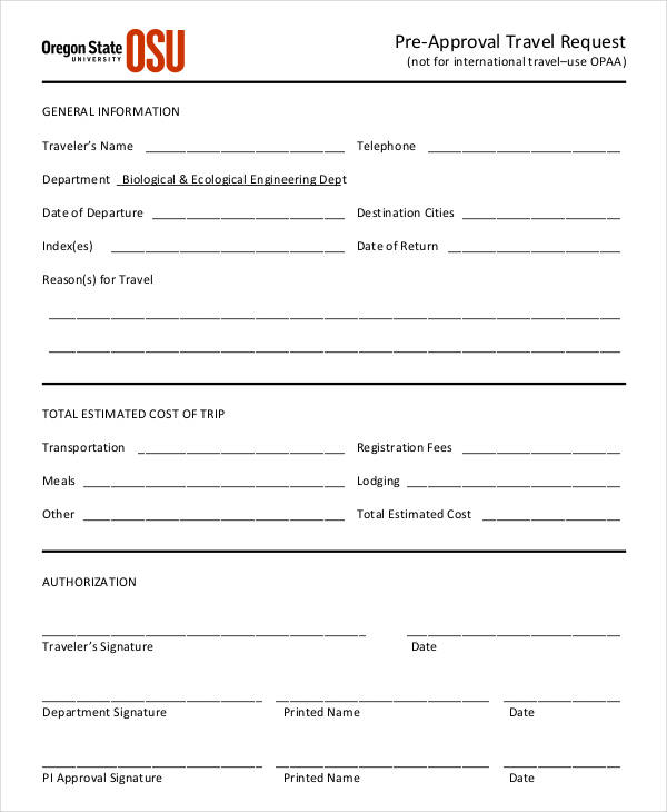 pre approval travel request form1