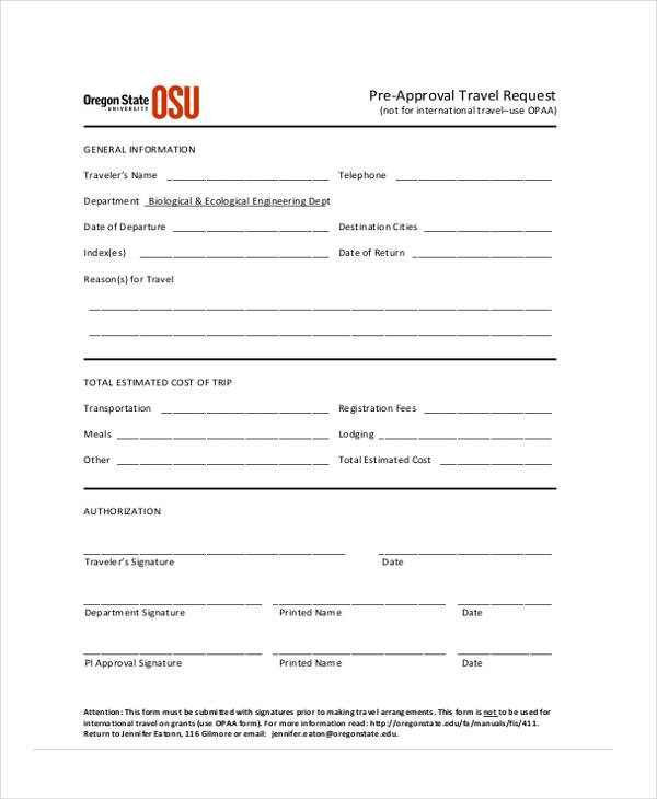 pre approval travel request form2