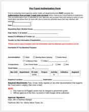 pre travel authorization form1