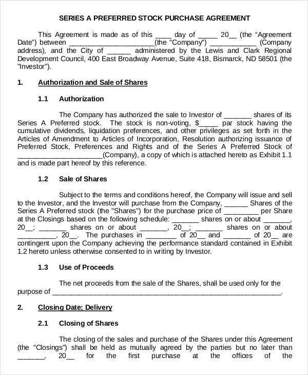 Share And Purchase Agreement Images  Agreement Letter Format