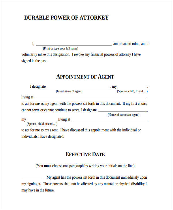 24 Printable Power Of Attorney Forms