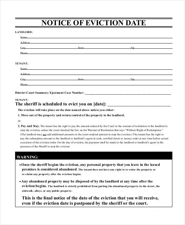 printable eviction notice form1