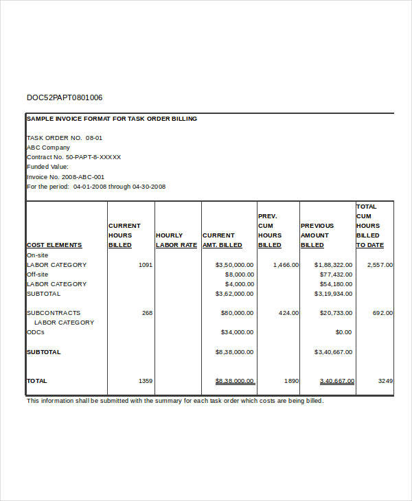 printable free invoice form