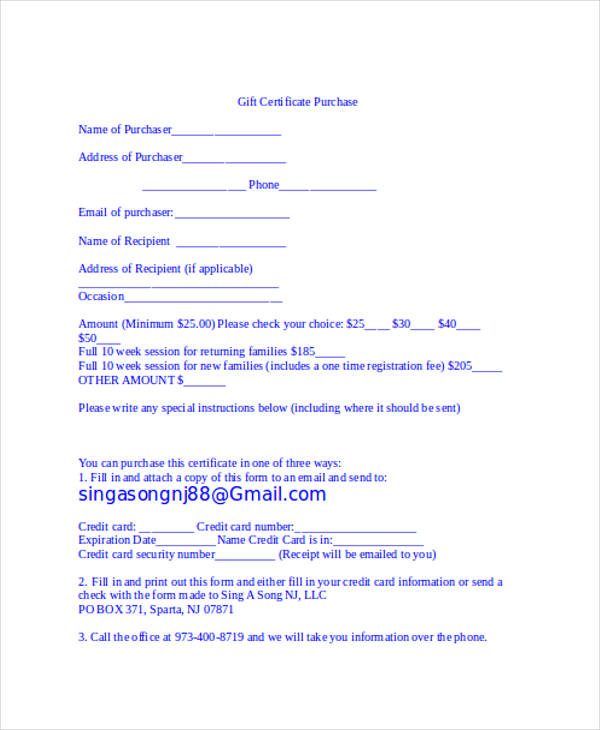 printable gift certificate form