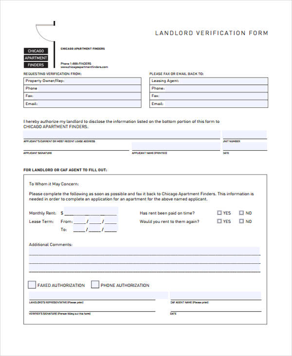 printable landlord verification form