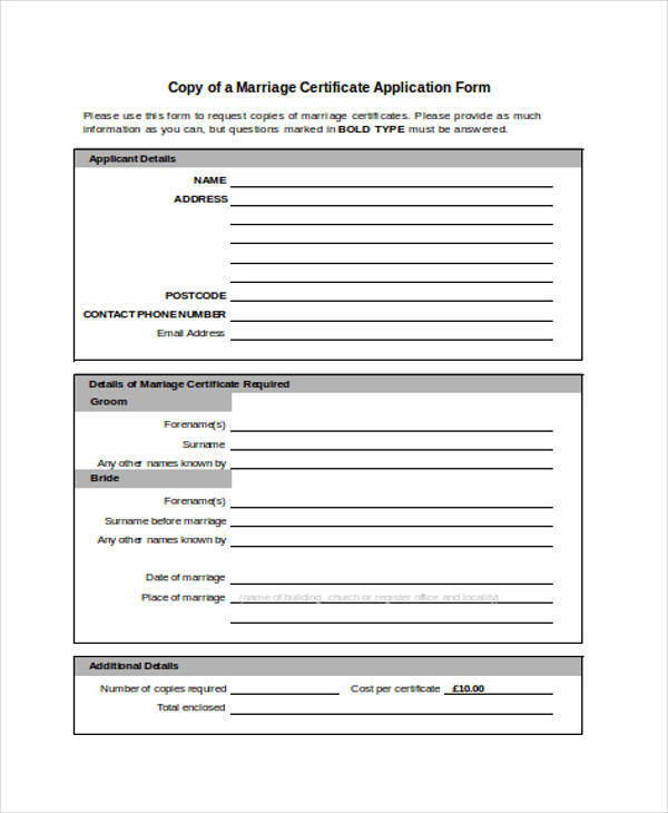 printable marriage certificate form1