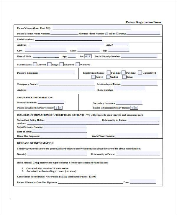 Printable Patient Registration Form Top Result 70 Fresh Printable Registration form Template