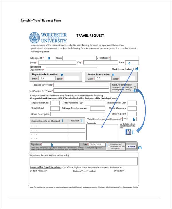 procurement electronic travel request