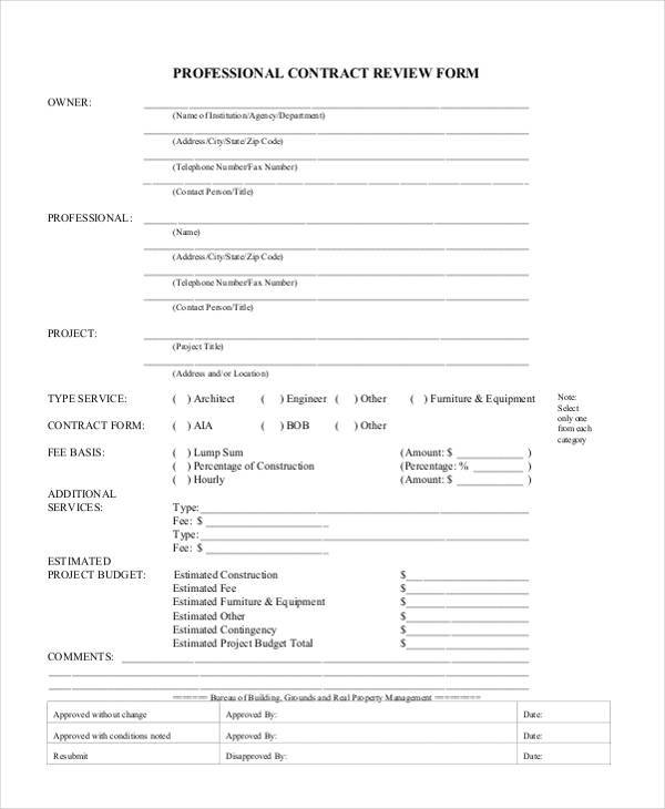 professional contract review form1