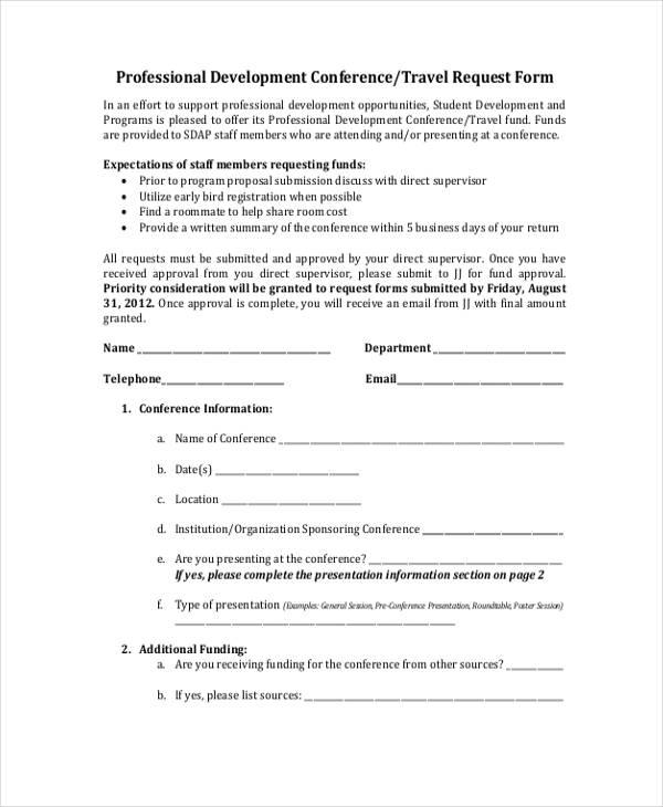 professional development travel request form2