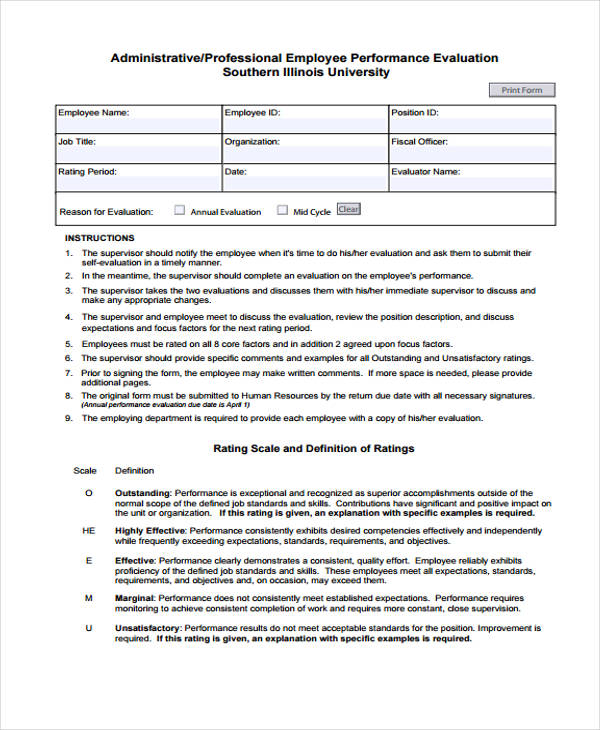How To Create An Employee Evaluation Form  BesikEightyCo