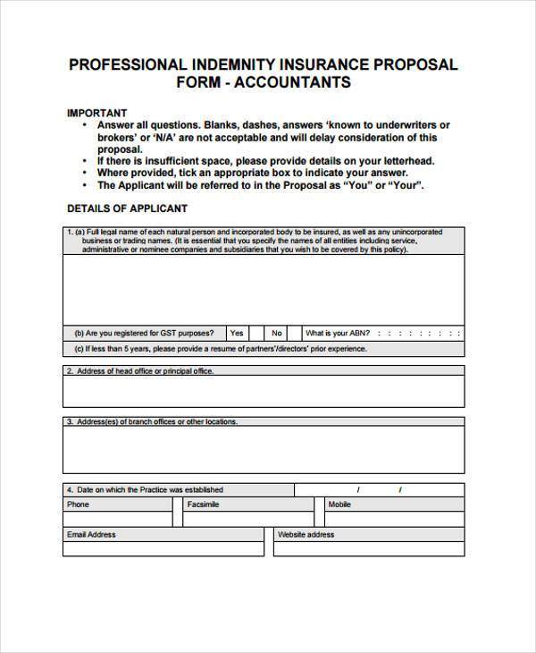 Free 9 Contractor Proposal Form Samples In Sample
