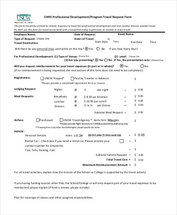 professional program travel request form1