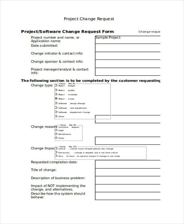 project budget change request transfer form