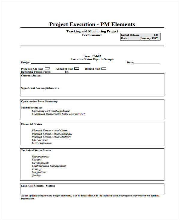 project management tracking form